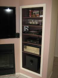 Wall Media Cabinet How To Create A Recessed Audio Video Pier For A Wall Mounted Tv 4