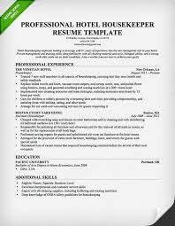 Housekeeping Sample Resume