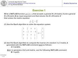 5 exercise 1 write a matlab