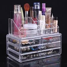 acrylic makeup organizer clear box cosmetic cases with drawers oem design