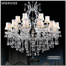foyer maria theresa crystal chandeliers of living silver clear modern chandelier lamp for hotel 18 lights authentic chrystal md8476 chandeliers maria