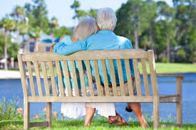 Image result for a old couple going in front of pond