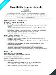 Hospitality Objective Resume Samples Nmdnconference Com Example