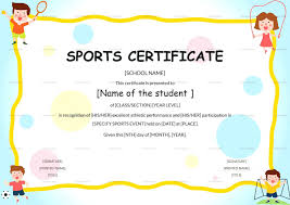 Sample Certificates Templates Sport Certificate Template Sports Templates Free Download