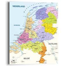 Für alle anderen verwendungen siehe niederlande (begriffsklärung). Landkarte Niederlande Holland Niederlandisch Stadte Wandbild Mehrfarbig Reinders