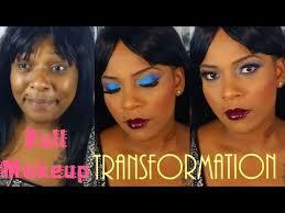 full dramatic bold makeup transformation on dark skin african american women