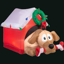 airblown holiday 3 7 ft h x 3 64 ft w inflatable animated dog