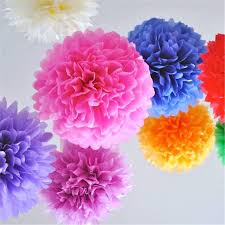 Homemade Paper Flower Decorations Diy Paper Flowers Ball Wedding Home Birthday Party Car Decoration