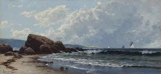 nature painting low tide hetheringtons cove grand manan by alfred thompson bricher by