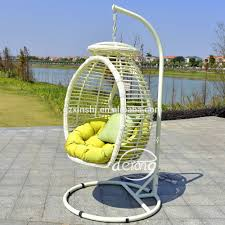 pe rattan garden hanging egg chair patio leaf design outdoor swing chair