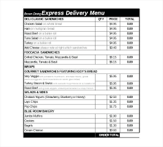 Free Online Order Form Template Pizza Order Form Template Free Online Order Form Template