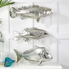 chrome fish large santa barbara design center sculptures shark metal wall art  on wall art large fish with large fish wall decorations sevenstonesinc