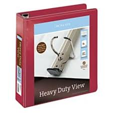 2in Binder R Brand Heavy Duty D Ring View Binder 2in Rings 54 Recycled Dark Red Office Supplies By Office Depot