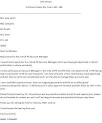 Public Relations Manager Cover Letter Best Examples Livecareer
