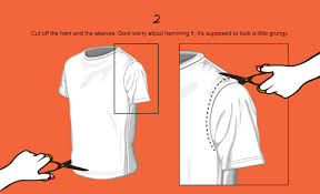 t shirt cutting tutorial fringe