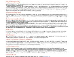 Privacy Policy Sample Template Privacy Policy Template Generator Free 24 3