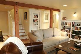 Rec room lighting Entertainment Room Basement Room Ideas Living Room Best Basement Living Room Ideas Also Wooden Pillar And Stairs Best Thephilbeckteamcom Basement Room Ideas Living Room Best Basement Living Room Ideas Also