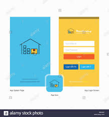 Warehouse Design Online Company Warehouse Splash Screen And Login Page Design With