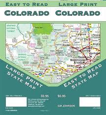 Colorado Mileage Chart Colorado Large Print Colorado