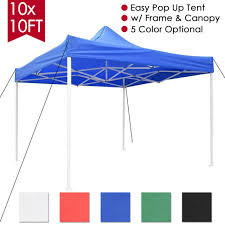 instant canopy tent outdoor pop up gazebo patio beach sun shade 10 x 10 black us for