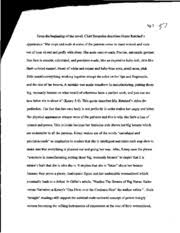diction analysis essay ng from the beginning of the novel  this is the end of the preview sign up to access the rest of the document