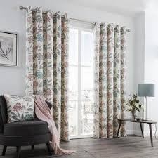 High Quality Karsten Ready Made Eyelet Curtains Blush