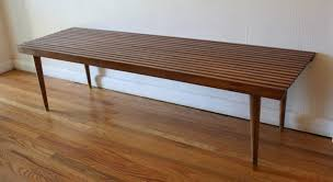 Slatted Coffee Table Mid Century Modern Slatted Coffee Table Bench Picked Vintage