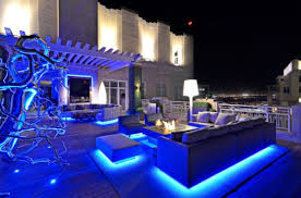 led lighting home. modern rooftop garden featuring very bright led lighting led home d