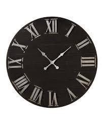 love this black shiplap wall clock