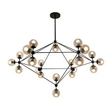 Globe Sm Light Bola Suspension Features A Metal Geometric Structure With 10