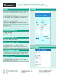 Office365 Request Time Off Addon Cheat Sheet By Davidpol Download