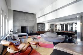 Nyc Penthouses For Parties An Infusion Of Color And Comfort Lavish Tribeca Penthouse In New York