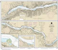 Columbia River Nautical Charts 18532 Columbia River Bonneville To The Dalles Hood River