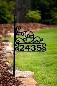 Decorative Metal Yard Signs House Number Signs For Yard House Number Yard Stake Gold Bronze 64