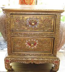 Antique Night Stands How Luxurious Designs Of Carving Gold Nightstand In The Bedroom