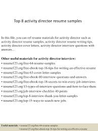 Activity Director Resume Top224activitydirectorresumesamples224conversiongate224thumbnail24jpgcb=1242224369731 15