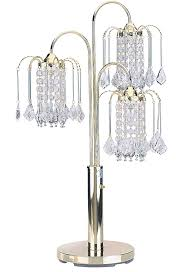 chandelier table lamp polished brass finish table lamp with crystal like shades drop