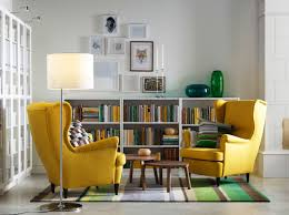 Wing Chairs For Living Room Yellow Living Room Chairs IKEA yellow leather chair