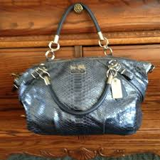 COACH MADISON EMBOSSED PYTHON SOPHIA SATCHEL 16346