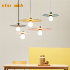 Star wish Designer <b>modern simple</b> UFO <b>Pendant Lights</b> Colorful iron ...