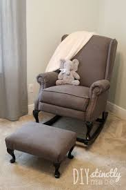 17 best ideas about upholstered rocking chairs on last year my wonderful in laws gave us two wingback reclining chairs that they