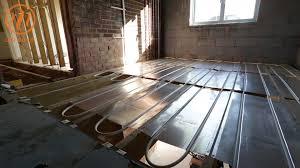 underfloor heating first floor aluplate install by continental underfloor you
