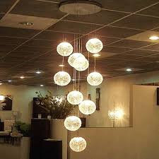 modern large led chandeliers stair long globe glass ball ceiling lamp with light fitting fixture glass ball led table lamp