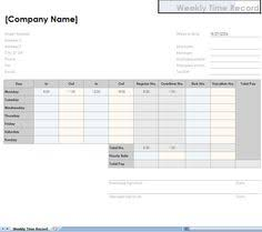 Two Week Time Sheets | Employee Time Sheets | Chiropractic Office ...