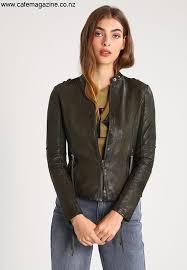 tigha dakota leather jacket dedicated army green tg021l006 m11 women s jackets fklnuz6789
