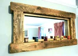 wood framed mirrors wood frame floor mirror distressed wooden framed mirrors custom brown ray n wayfarer