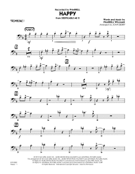 Download Happy From Despicable Me 2 Trombone 1 Sheet Music By