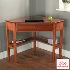 corner desk with drawer cherry writing furniture study table small spaces home