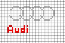 Painting style & technic : Audi Logo Pixel Art Pixel Art Pixel Art Design Art Cars