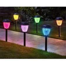 the customizable color solar garden lights